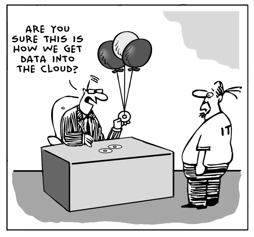 illustration 3 data in the cloud
