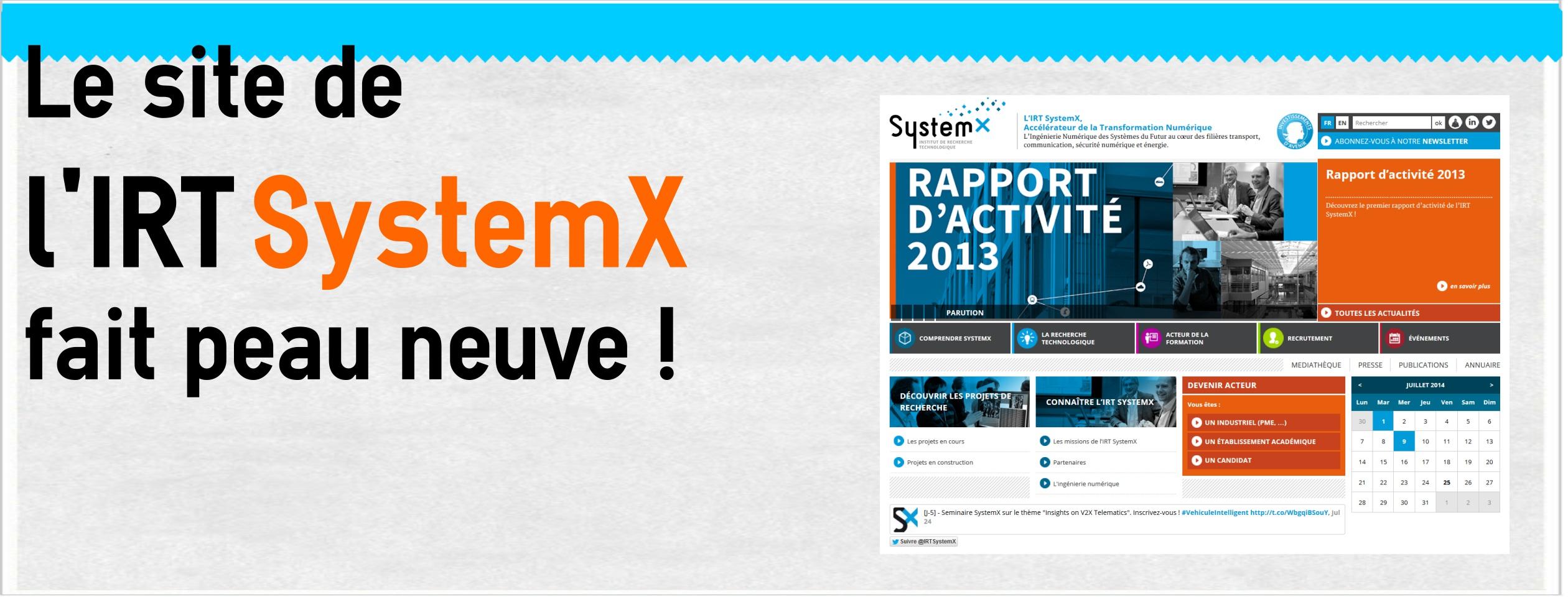 Le site web de l'IRT SystemX fait peau neuve. Découvrez-le en détails !