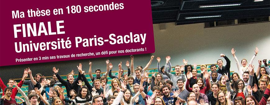 Finale Paris-Saclay de Ma thèse en 180 secondes le 16 avril 2015