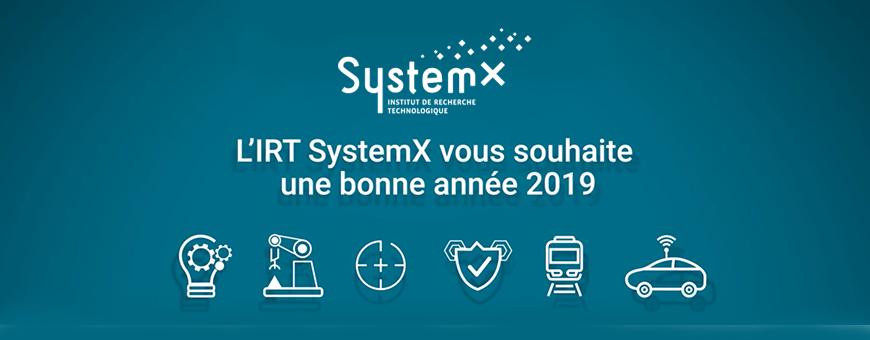 L'IRT SystemX vous souhaite une bonne année 2019